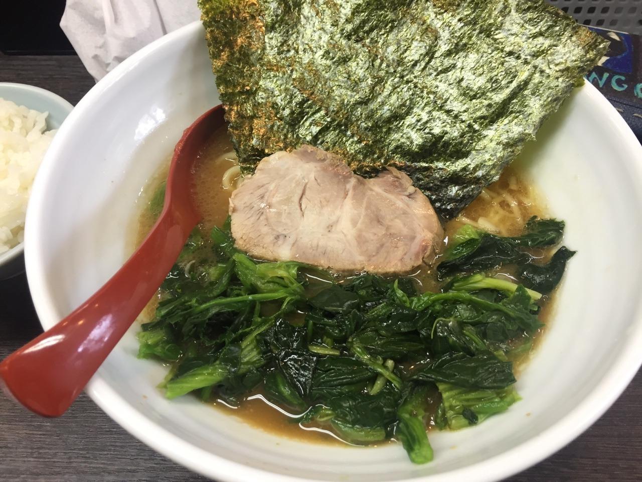 日本人のガム離れ / 麺屋けんゆう ラーメンホウレンソウ入り&チャーシューメン